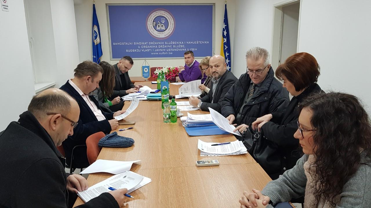 Održan sastanak Štrajkačkog odbora Porezne uprave Federacije BiH sa menadžementom i predstavnikom Vlade