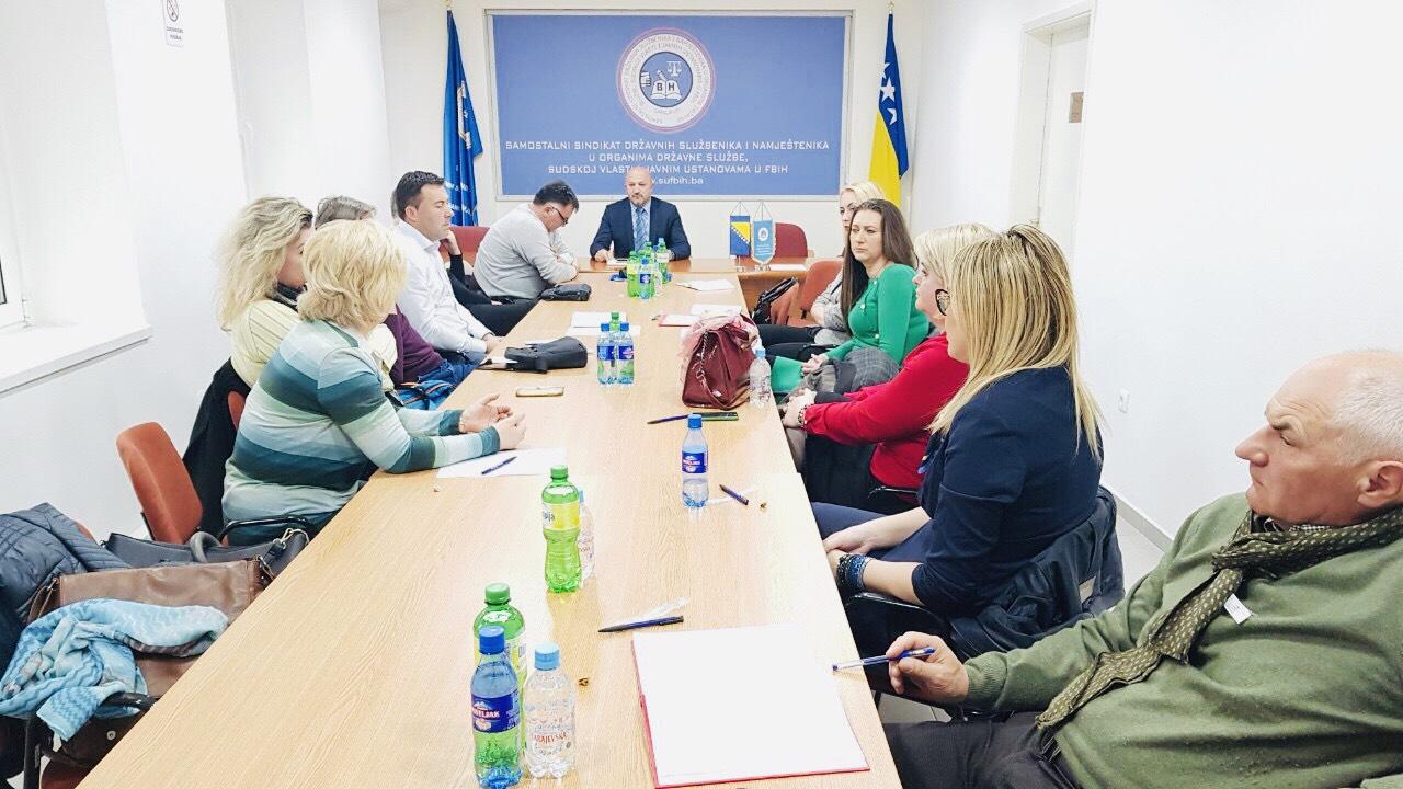 Održan sastanak sa sindikalnim povjerenicima Porezne uprave Podružnice Kantona Sarajevo