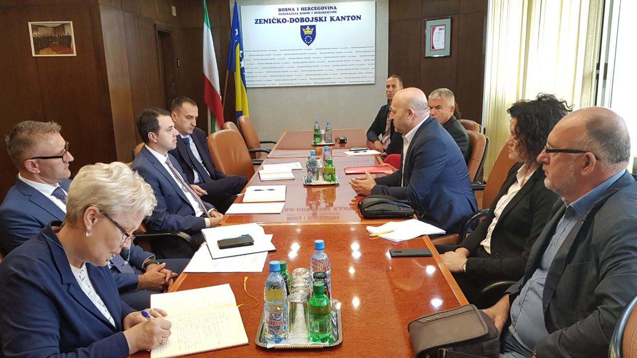 Održan radni sastanak sa Vladom Zeničko- dobojskog kantona