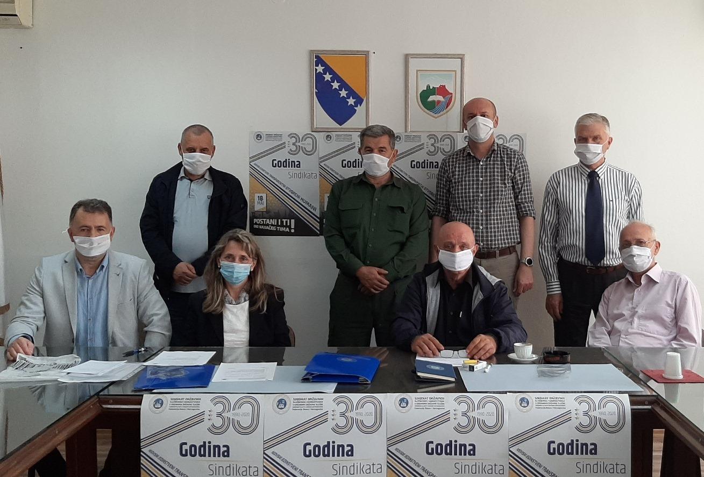 Održana 8. Redovna Sjednica Koordinacionog Odbora Sindikalnih Organizacija Uprave U SBK/KSB