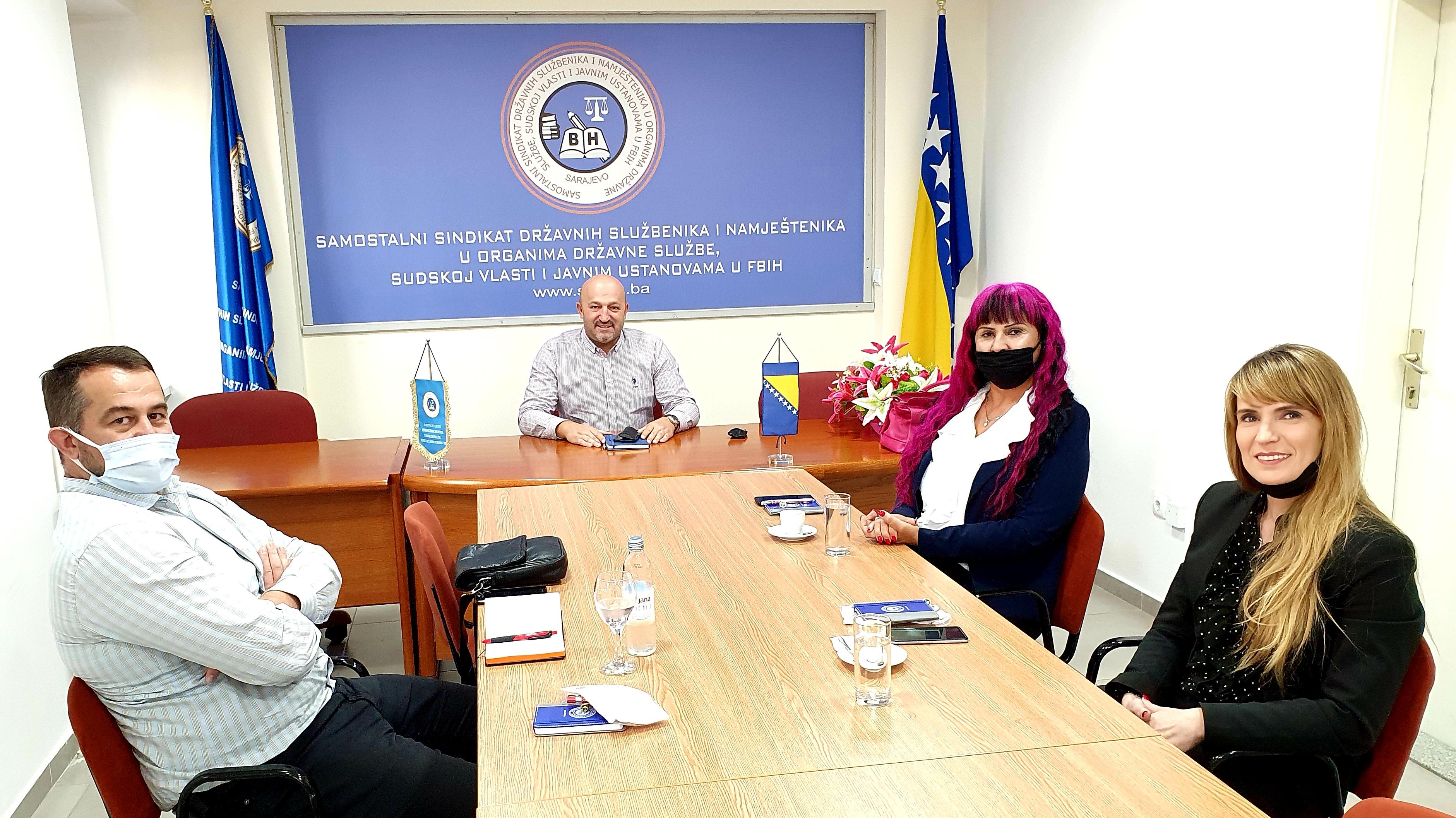 Održan Radni Sastanak Sa Predstavnicima Sindikata Federalnog Ministarstva Obrazovanja I Nauke