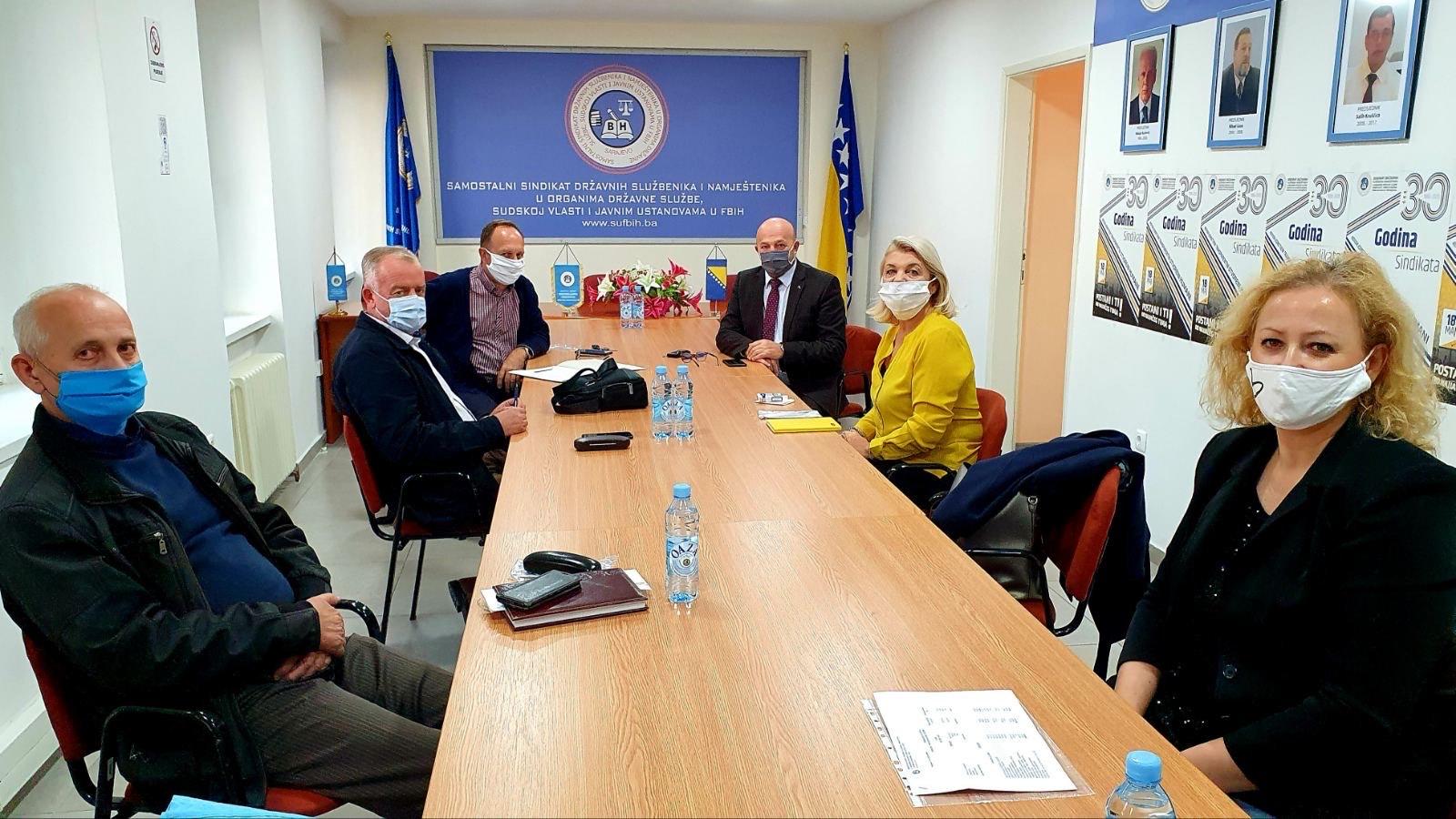 Održana Sjednica Nadzornog Odbora Samostalnog Sindikata Državnih Službenika I Namještenika U FBiH