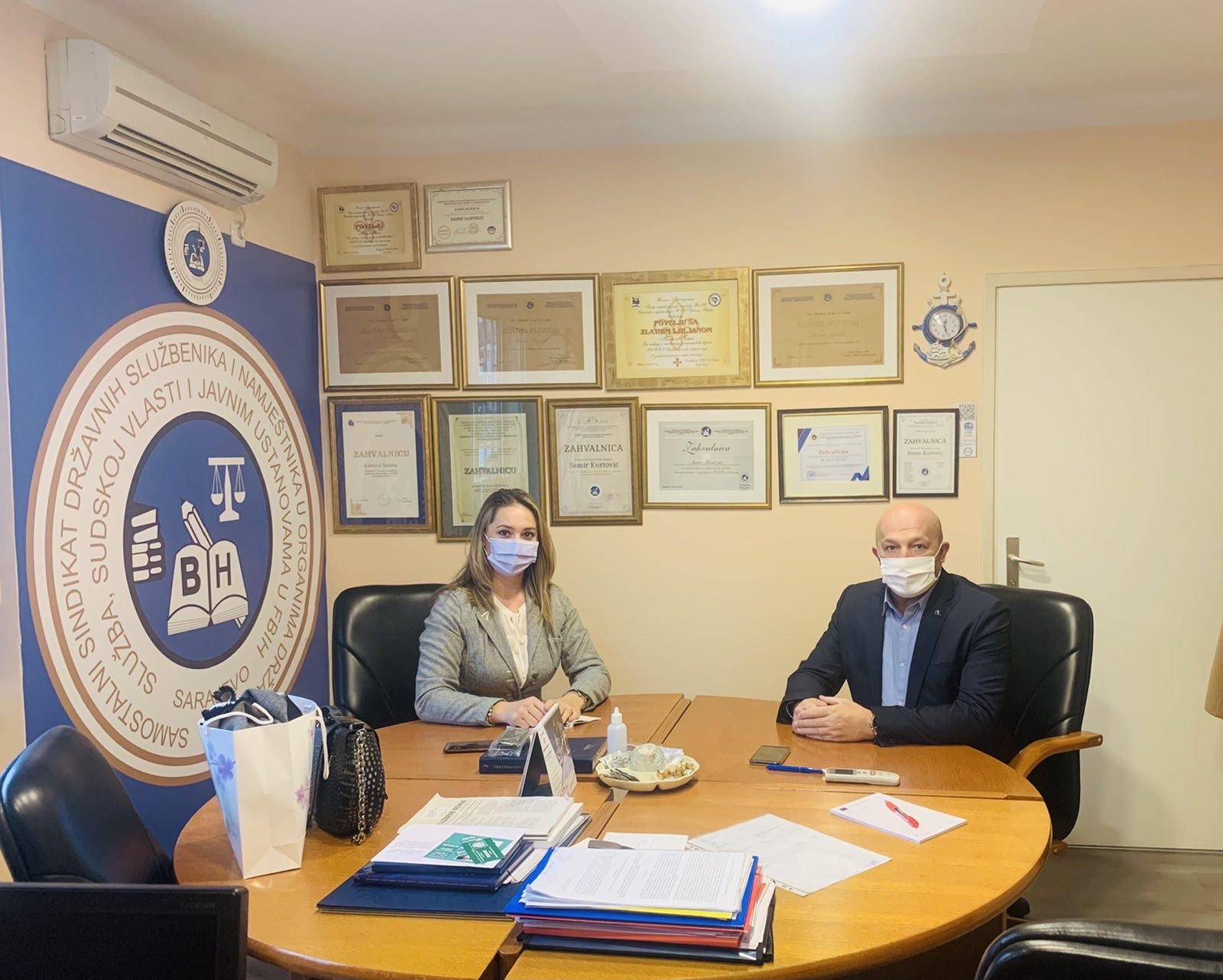 Održan Radni Sastanak Sa Novoizabranom Predsjednicom Sindikalne Organizacije Parlamenta Federacije BiH